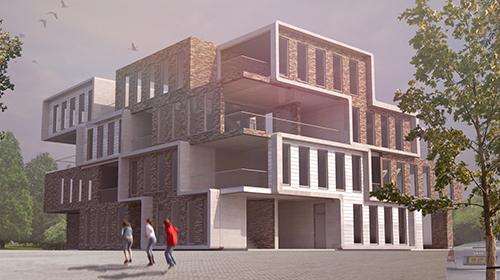 Appartementenblok Delft